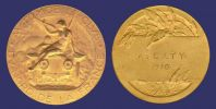 Benard, Raoul Rene Alphonse - Early Auto Racing Medal, 1910, Awarded 1930-combo.jpg